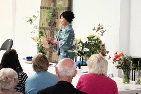 Ikebana Demonstration at Chiddingstone Castle