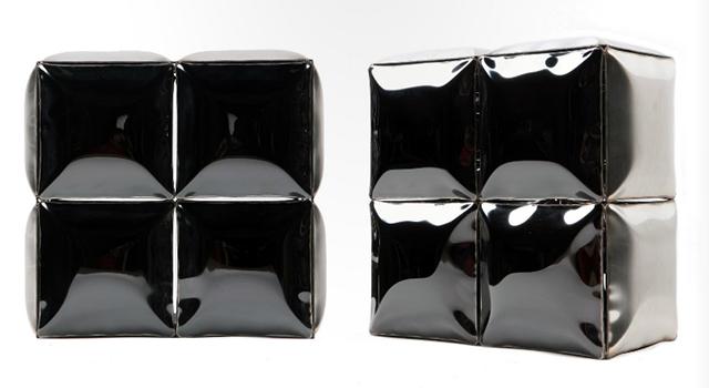 Tetris B5, Stainless Steel 400 x 200 x 400 mm, 2012