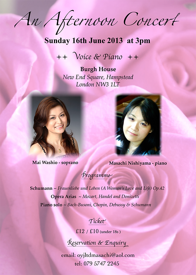 An Afternoon Concert on SUnday 16th June 2013